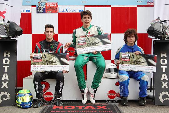 Pagliarani (Max), Trolese (Junior) e Beggi (DD2) si aggiudicano l'accesso al Rotax Grand Finals