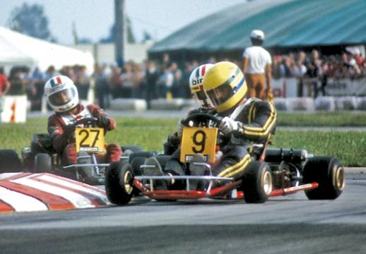 Il kart di Senna all'inaugurazione di Mondokart