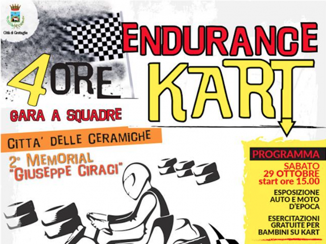 Endurance Kart 4 ore a squadre - 2° Memorial Giuseppe Ciracì