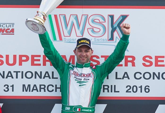 Marco Ardigò vince il WSK Super Master Series a La Conca per soli quindici millesimi di secondo!