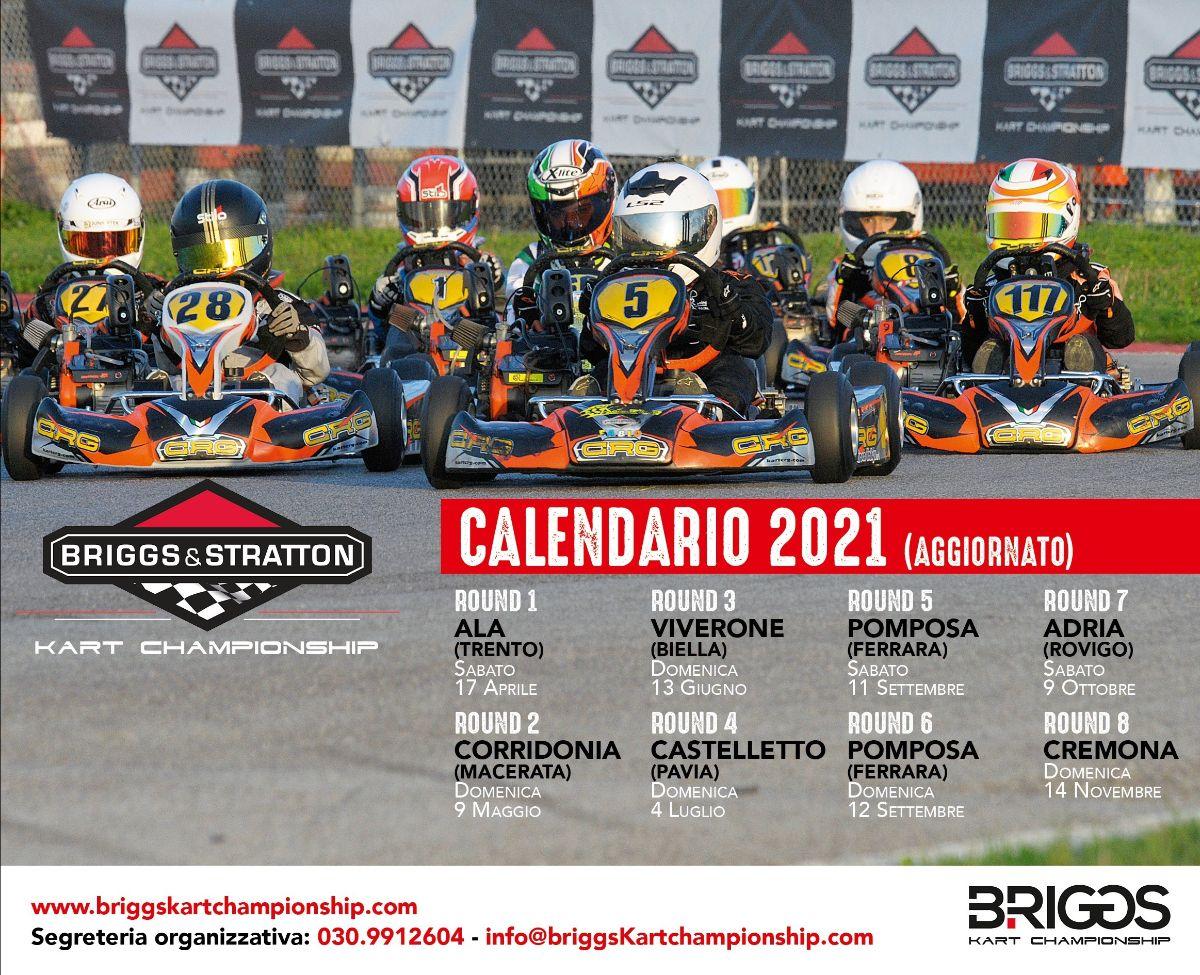 Il nuovo calendario Briggs Kart 2021