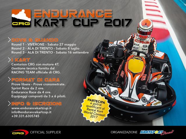 CRG sarà il partner del campionato  Endurance Kart Cup