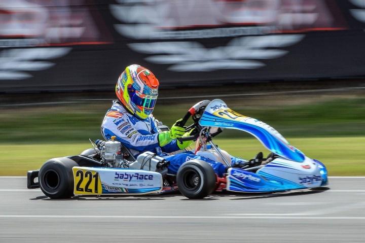 Lorenzo Ferrari in rimonta nella WSK Open Cup