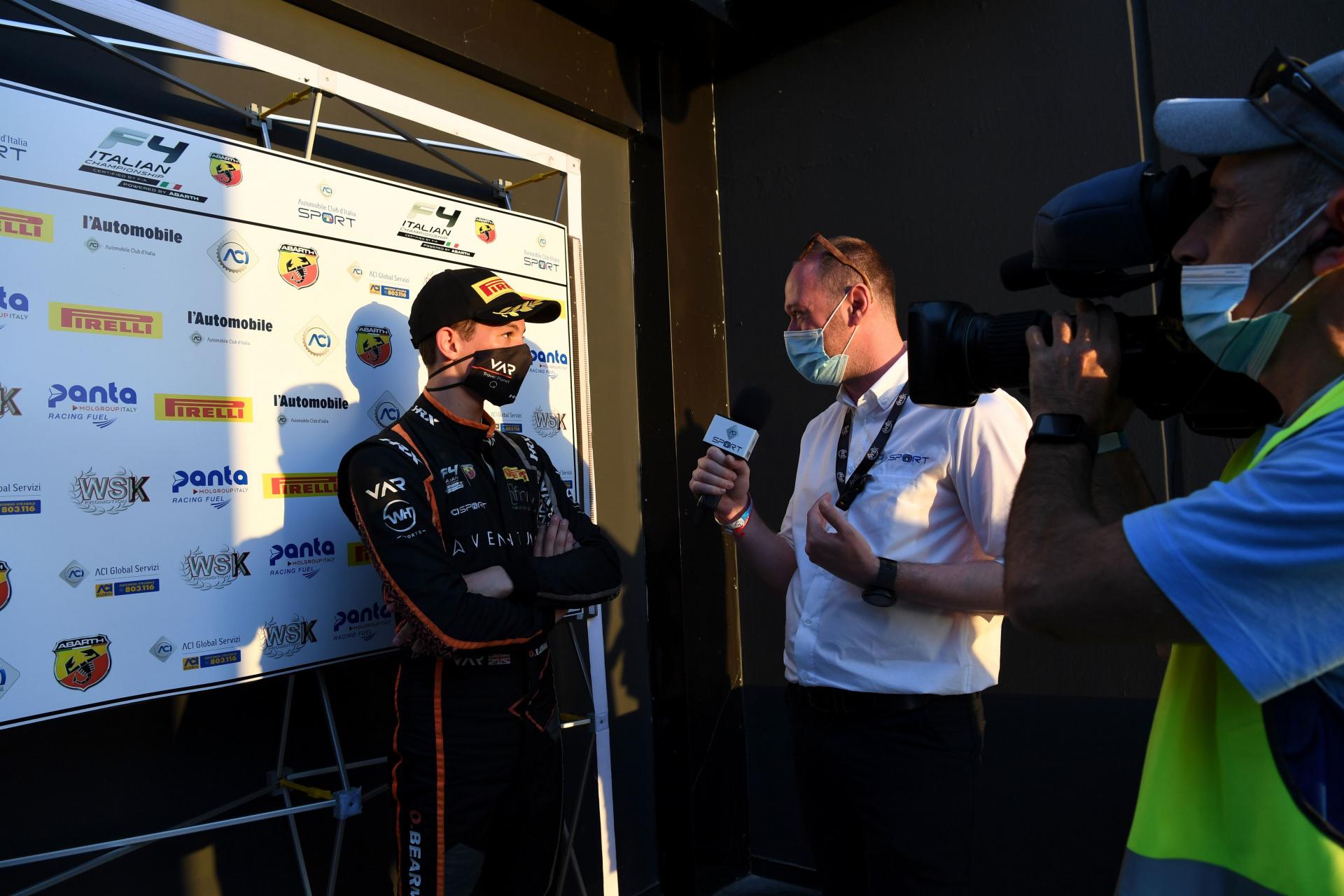 F4 Italiana, Oliver Bearman: «Sto apprezzando molto la F4, non vedo l'ora che arrivi il resto della stagione!»