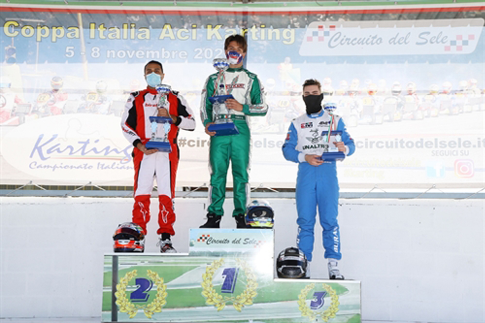 Tutti i vincitori della Coppa Italia ACI Karting a Battipaglia