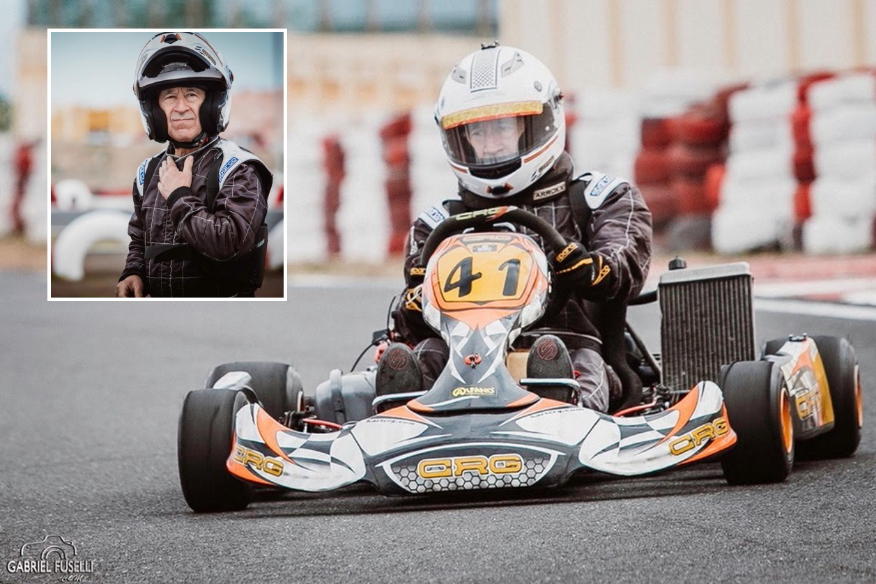 Pilota a 78 anni: quando la passione per il kart non ha età