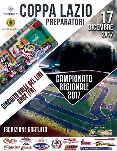 La 1. Coppa Preparatori il 17 dicembre ad Arce conclude il Campionato Regionale del Lazio
