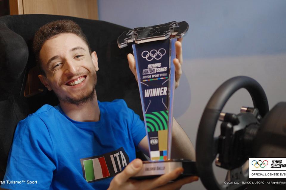 Valerio Gallo vince le Olimpiadi motoristiche virtuali